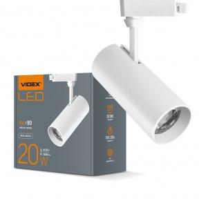 LED світильник трековий VIDEX 20W 4100K білий