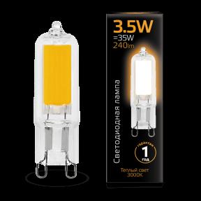 Лампа Gauss LED G9 AC220-240V 3.5W 3000K Glass