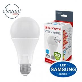Лампа світлодіодна стандартна A80 LS-33 Elegant 18W E27 6500K алюмопл. корп. A-LS-1453