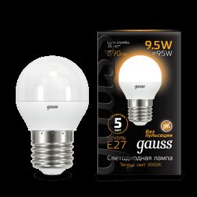 Лампа Gauss LED Globe E27 9.5W 3000K 890Лм