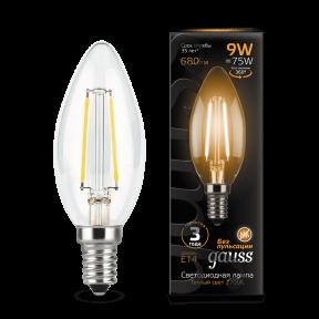Лампа Gauss LED Filament Candle E14 9W 2700К 680Лм