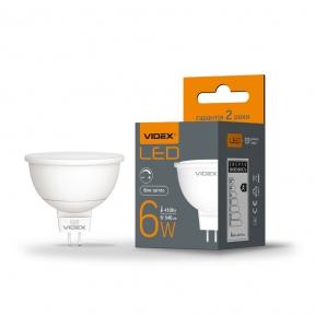 LED лампа VIDEX MR16еD 6W GU5.3 4100K дімерна