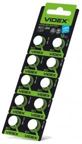 Батарейка годинникова Videx AG13/LR44 BLISTER CARD