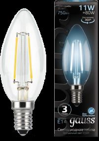 Лампа Gauss LED Filament Candle E14 11W 4100К 750lm