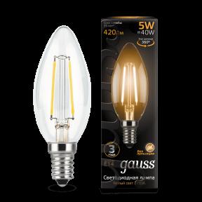 Лампа Gauss LED Filament Candle E14 5W 2700К 420Лм