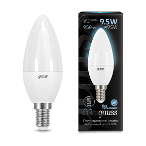 Лампа Gauss LED Candle E14 9.5W 4100К 950Лм