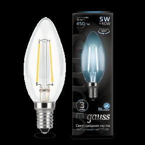 Лампа Gauss LED Filament Candle E14 5W 4100К 450Лм