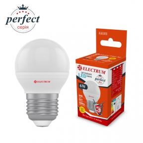 Лампа світлодіодна куля LB-32/1 6W E27 3000K алюмопластиковий корп. A-LB-1873