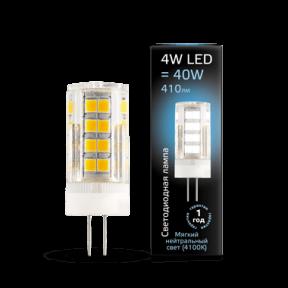 Лампа Gauss LED G4 AC185-265V 4W 4100K керамика 410Лм
