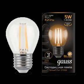 Лампа Gauss LED Filament Globe E27 5W 2700K 420Лм