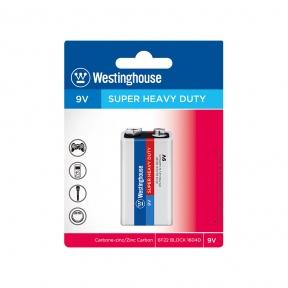 Надпотужні батарейки 9V – (Крона) 6F22-BP1  BLISTER 1шт.  Westinghouse
