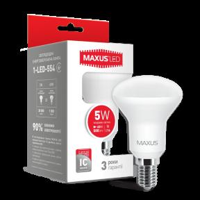 LED лампа MAXUS R50 5W яркий свет E14 (1-LED-554)