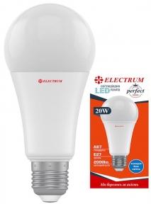Лампа світлодіодна стандартна A67 LS-32 20W E27 4000K алюмопластиковий корп. A-LS-1866