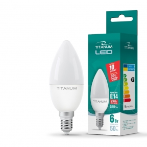 LED лампа TITANUM C37 6W E14 4100K 220V