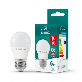 LED лампа TITANUM G45 6W E27 4100K