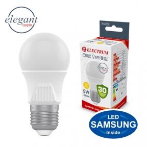 Лампа світлодіодна стандартна A50 LS-33 Elegant 5W E27 3000K алюмопл. корп. A-LD-1916