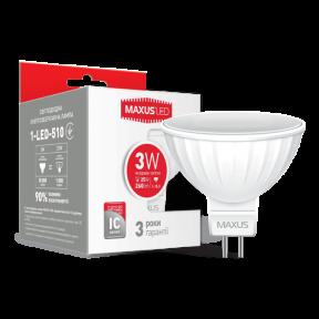 LED лампа Maxus MR16 3W яскраве світло GU5.3 AP (1-LED-510)