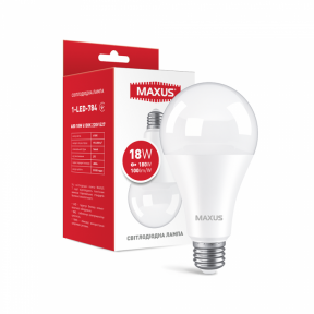 LED лампа MAXUS A80 18W 4100K 220V E27 (1-LED-784) 1800Lm