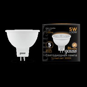 Лампа Gauss LED MR16 GU5.3 5W 3000K 500Лм