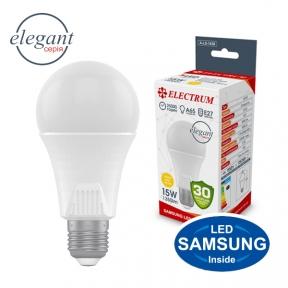 Лампа світлодіодна стандартна A65 LS-33 Elegant 15W E27 3000K алюмопл. корп. A-LS-1438(копія)