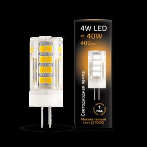 Лампа Gauss LED G4 AC185-265V 4W 2700K кераміка