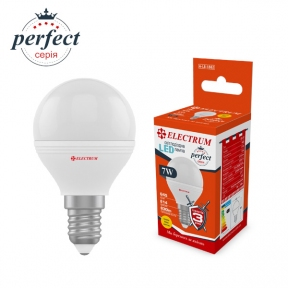 Лампа світлодіодна куля LB-32 7W E14 3000K алюмопластиковий корп. A-LB-1862