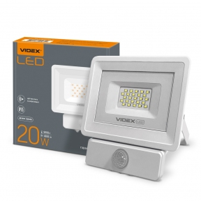 LED прожектор VIDEX 20W 5000K Сенсорний