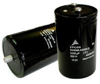 1500mkf - 350v  БОЛТОВі  (B43458 Series) 51.6*80.7mm  Epcos (+85 °C)